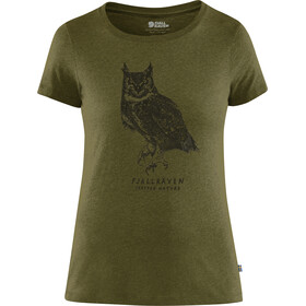 Fjällräven Owl Print T-Shirt Women green